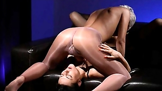 Scalding brunette smoking penis of rubber