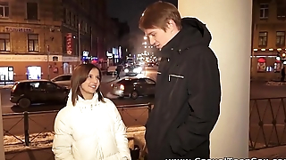 Casual Teen Sex - Sex Alina with hot stranger