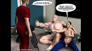 FIRST ANAL CONTACT 3D Gay Cartoon Comic Anime Consider