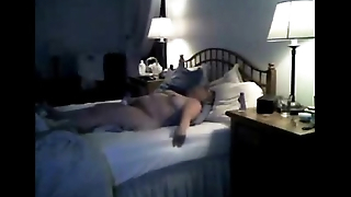 Hidden cam catche my mom cumming on bed
